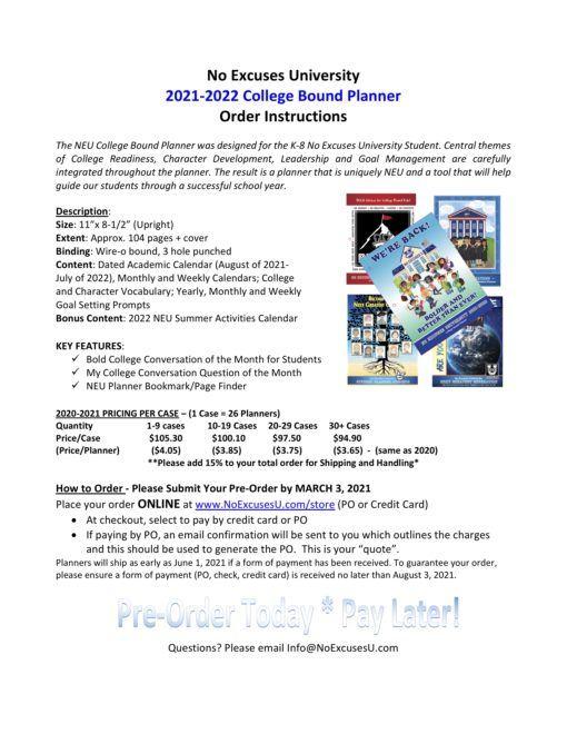 Neu Academic Calendar 2021 NEW* 2021 2022 NEU Student Planner   No Excuses University